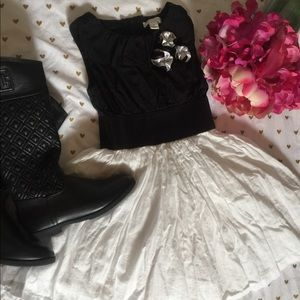 Girl's Black and White Dress (size 5)